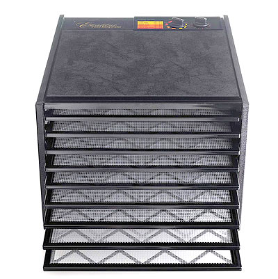Front view of Excalibur food dehydrator