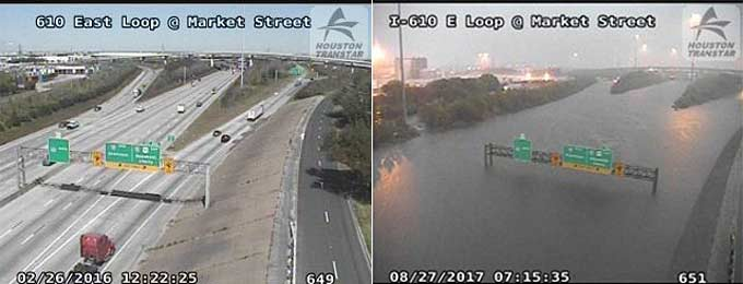 Houston Flooding Before and After