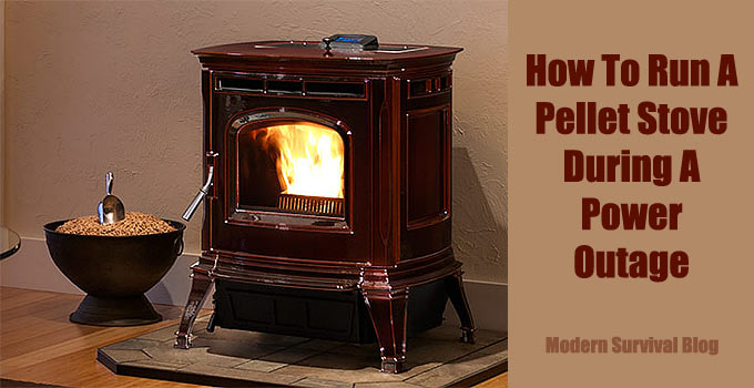 How to run a pellet stove during a power outage