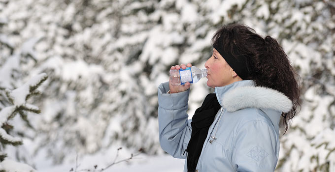 Drink enough water during winter