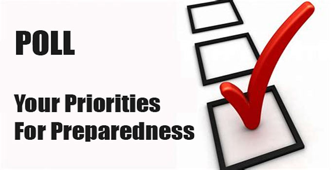 POLL: Top Categorical Priorities For Your Personal Preparedness
