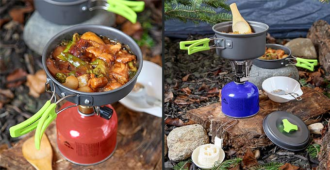 Small Cooking Pot For Camping & Kit