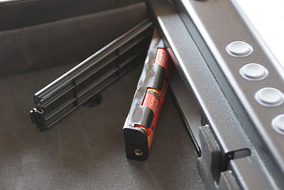 SentrySafe Pistol Safe Battery Compartment