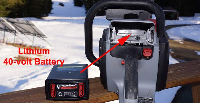 Lithium chainsaw battery