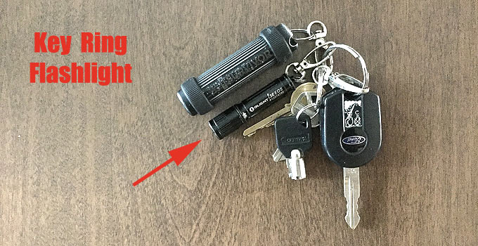 Small key ring flashlight