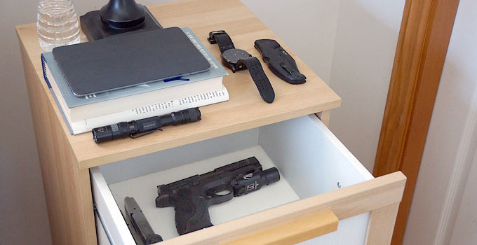 Home Defense Nightstand