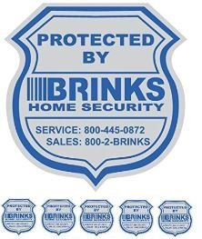 Brinks window decal