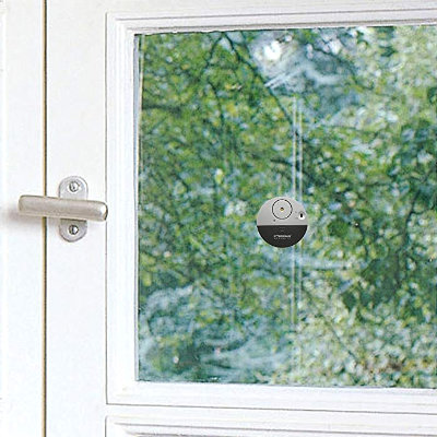 Small, thin, stick-on window alarm