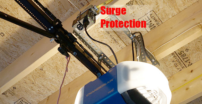surge protection for garage door opener