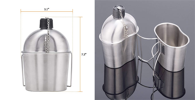 Stainless Steel Canteen - safe for boiling water