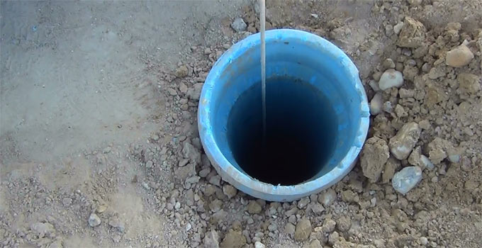 emergency well water bailer bucket