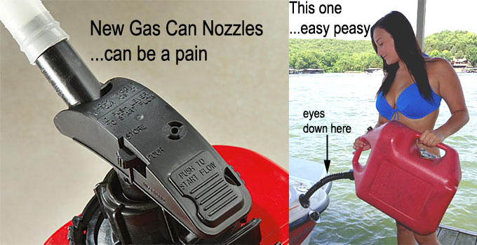 New gas can nozzles are a pain