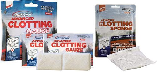 hemostatic dressing QuikClot Gauze or Sponge