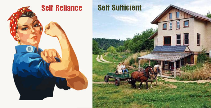 Self Reliance & Self Sufficiency – What's The Difference?