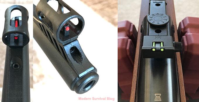 Diana RWS 34 front and rear sights
