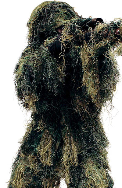 Ghillie suit to disperse heat signature