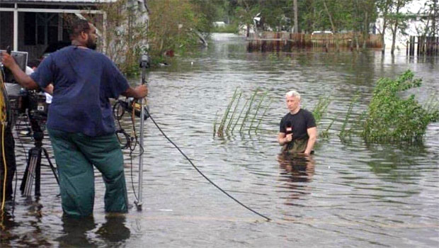 Anderson Cooper - fake flooding news