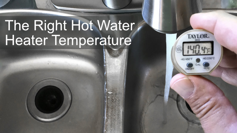 Best hot water heater temperature to avoid Legionnaires.