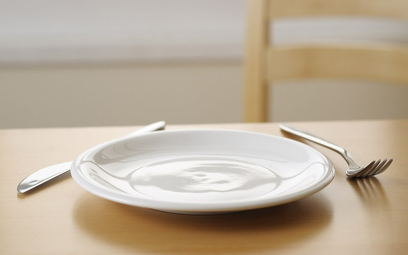 empty plate hungry
