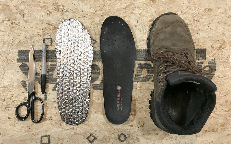 Keep Boots & Feet Warmer During Winter With Foil Insulation Sole Inserts