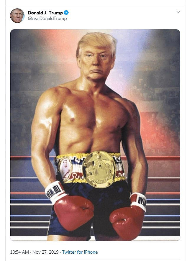 Trump head on Rocky body