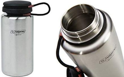 Single Walled stainless steel water bottle