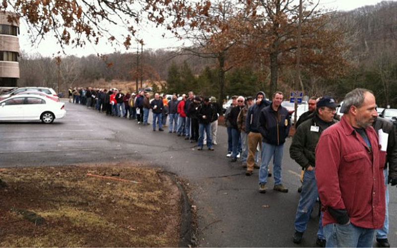 Residents in Connecticut lining up to register their firearms and magazines.