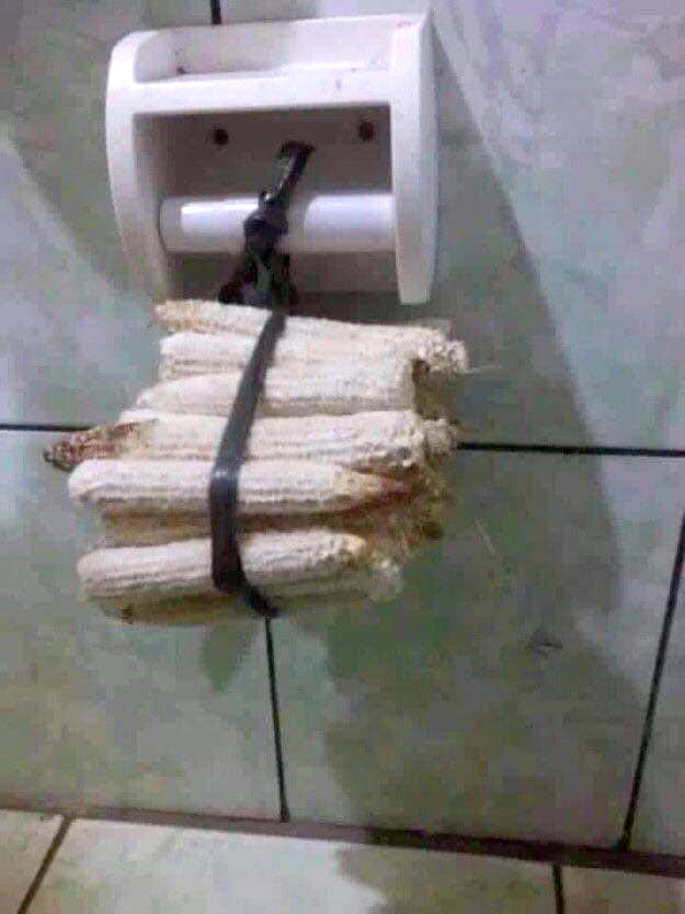 For when toilet paper runs out
