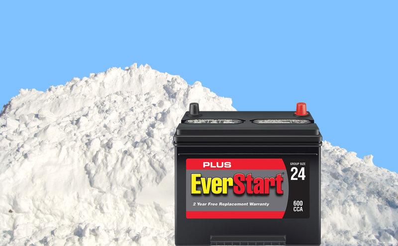 Temperature when 12 volt battery will freeze.