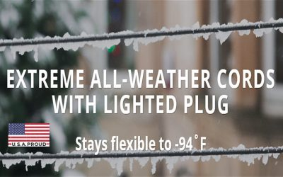 Cold Weather Extension Cord That Stays Flexible & Won't Crack