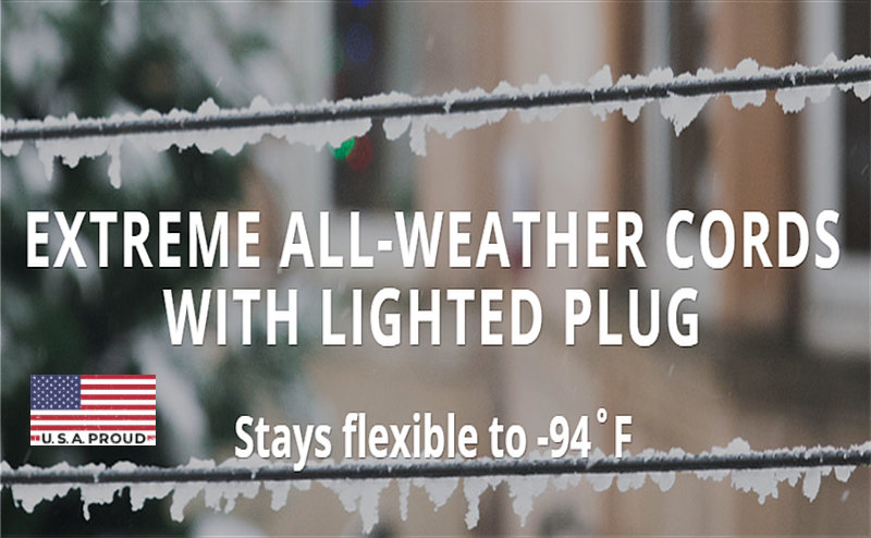 Extreme all-weather outdoor extension cord