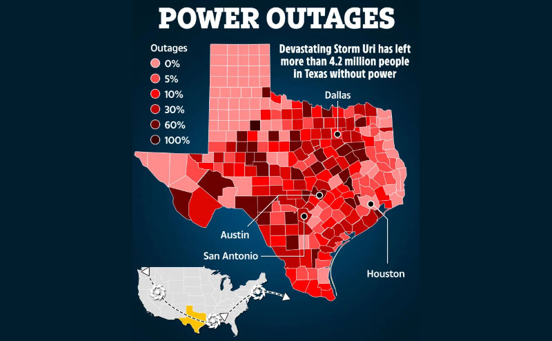 4 million without power in Texas