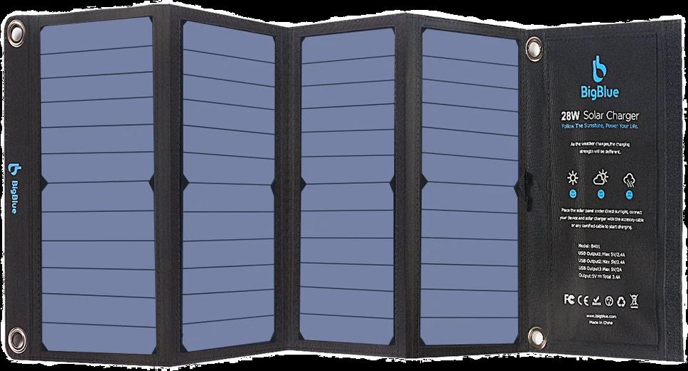 Big Blue 28 watt folding solar panel