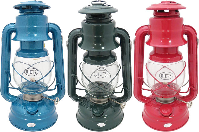 The Dietz oil lamps are the most popular.