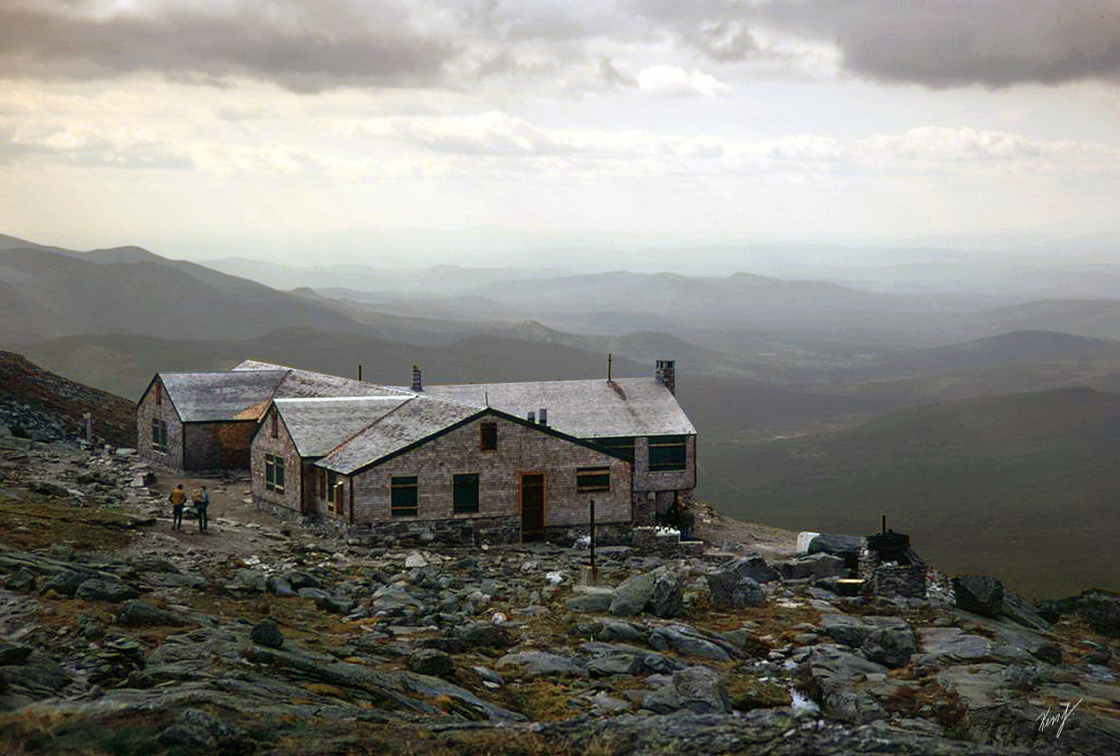 photo of Lakes of the Clouds Hut from 1971